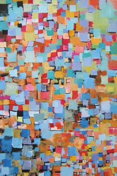 The In Crowd...original painting by Michelle Daisley Moffitt. $800.00, via Etsy.