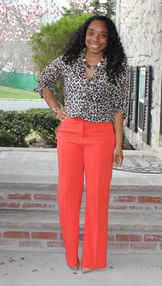 Corporate Chic: Leopard and Orange