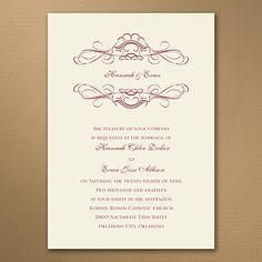 Whimsical Swirls - Ecru - Invitation    | 40% OFF  |  http://mediaplus.carlsoncraft.com/Wedding/Wedding-Invitations/3254-TWS35010EC-Whimsical-Swirls--Ecru--Invitation.pro