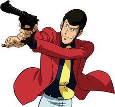 Arsène Lupin III is a remarkably accurate shot when he has to be, but he prefers Daisuke Jigen's shooting skills over his own. Hayao Miyazaki, Studio Ghibli, Conan, Manga Anime, Anime Art, Vintage Cartoons, Lupin The Third, Kaito Kid, Comic Book Superheroes