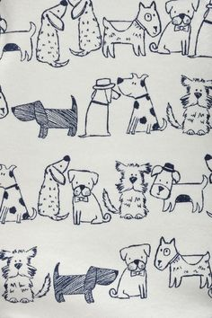 Buy Three Pack Blue Dog Bodysuits from the Next UK online shop Doodle Drawings, Animal Drawings, Cute Drawings, Dog Illustration, Illustrations, Animal Doodles, Doodle Dog, Art Plastique, Dog Art