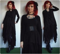 Dark mori outfit I wore for a concert of Nachtmahr *o* one of my favourite bands <3