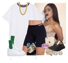 """Homecoming Football Game-Ariana 🏈🔥"" by saucinonyou999 ❤ liked on Polyvore featuring NIKE, Lime Crime, Givenchy and Étoile Isabel Marant"