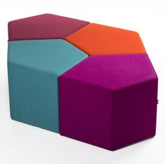 With its modern and unconventional design, Flex is a guaranteed conversation piece. One piece Flex can be used alone or create a long very attractive seating area by arranging multiple units together. Commercial Interior Design, Commercial Interiors, Modern Interior Design, Living Room Restaurant, Restaurant Lounge, Office Waiting Rooms, Modern Ottoman, Ottoman Design, Lobby Interior