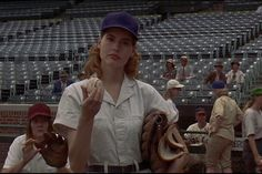 A League Of Their Own - Geena Davis as Dottie We Movie, About Time Movie, All About Time, Baseball Movies, No Crying In Baseball, Geena Davis, Dinner And A Movie, Movies Worth Watching, New Trailers
