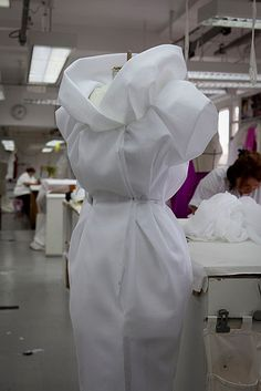 Fashion Behind the Scenes... dressmaking; fashion design in the making // Christian Dior atelier