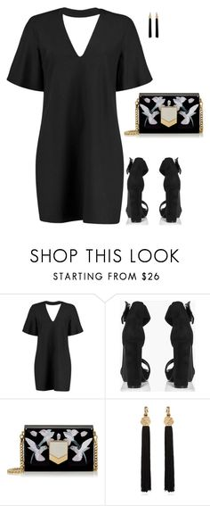 """BooHoo"" by tina-pieterse ❤ liked on Polyvore featuring Boohoo, Jimmy Choo and Yves Saint Laurent"