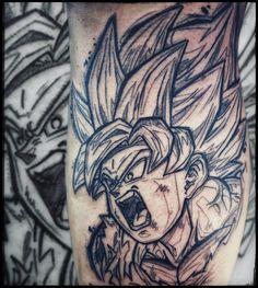 "Armin Primig 🐙 (@mr_catatafish_tattoo) auf Instagram: ""Son goku in rage mode 🔥😁 #songokutattoo #tattoo #inked #tattoos #dragonballtattoo #songoku #dragonball #anime #animetattoo Manga Tattoo, Anime Tattoos, Son Goku, Dragon Ball, Sketchy Tattoo, Armin, Rage, Instagram, Monkey King"