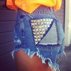 light wash studded levis