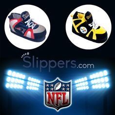 Are You Ready For Some Football?! You Know We Are!  Comment below with who you think will win the season opener tonight!  www.slippers.com/nfl  #NFL #Patriots #Steelers #Football #Slippers