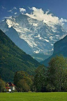 View on the Jungfrau, Interlaken, Switzerland