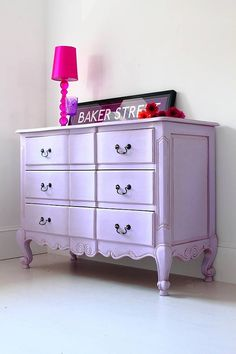 Lilac French Chest Of Drawers