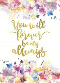 Gold Foil Print / Watercolour print /Love Quote Printable /Flower Print…