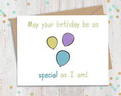 Funny Birthday Card Birthday Cards Funny by FourLetterWordCards