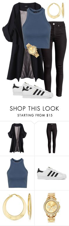 """""""The Grind"""" by laurelbeauty on Polyvore featuring Merci Me London, Topshop, adidas, Ross-Simons, Mestige, women's clothing, women's fashion, women, female and woman"""