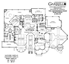 Lightkeepers House Plan # 05232, 1st Floor Plan, Coastal House Plans