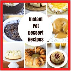Instant Pot Desserts, Instapot Dessert Recipes, or Pressure Cooker Desserts. Whatever you'd like to call it, we all love desserts and these instapot dessert recipes are fabulous. Pressure Cooker Desserts, Best Pressure Cooker, Instant Pot Pressure Cooker, Pressure Cooking, Donut Recipes, Sweets Recipes, Fish Recipes, New Recipes, Noodle Recipes