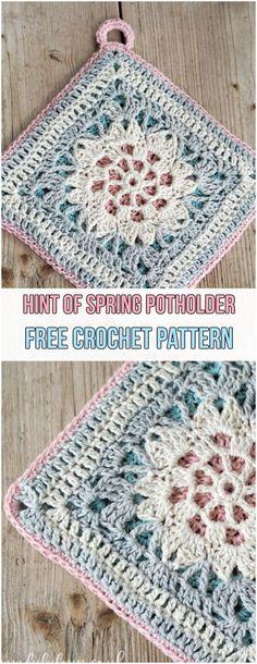 Hint of Spring Potholder Free Crochet Pattern