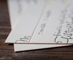 Love the Edge -- Letterpress Wedding Invitations | String Calligraphy Design | Bella Figura Letterpress