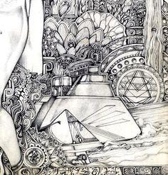 "Detail from ""Inner Garden"" - Laura Borealisis"