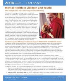 Mental Health in Children and Youth. Repinned by SOS Inc. Resources.  Follow all our boards at http://pinterest.com/sostherapy  for therapy resources.