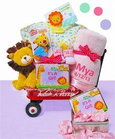 The Perfect Gift Basket - Jungle Jamboree Baby Girl Wagon,