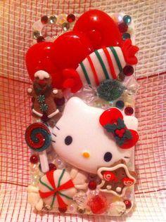 Hello Kitty Christmas iPhone 4 Case #hellokitty #iphone #bling