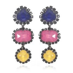 Pop of color in your earrings, these make me smile :)