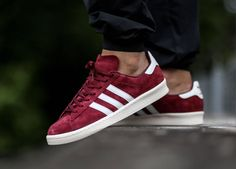 The adidas Campus Japan Pack Vintage is rendered in another appealing colorway of Burgundy for its latest rendition this season. Adidas Campus, Adidas Shoes Outlet, Adidas Sneakers, Clarks, Bordeaux, Adidas Originals, Superstar, Mode Adidas, Shoe Sites