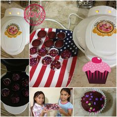 Pictures from our buyer. The kids are learning how to bake and are having fun.  You too can bake with the Smart Planet or Delish Treats units  Click LIKE for home baked treats  .