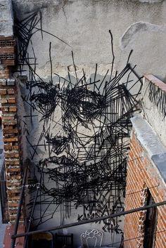 Street Art -                                                      Beyond Banksy Project / Borondo - Madrid, Spain - Repinned // www.kiezkicker-ha...
