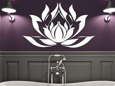 Lotus Flower Wall Decal Vinyl Sticker Decals Mandala Namaste Yoga Decor C193