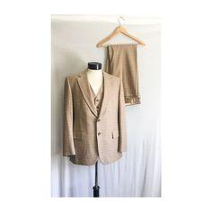Vintage Cockatoo Sports Coat  Mid Century 60s 70s Blazer  Houndstooth Jacket  1960s 1970s Mad Men Beige /& Brown Jacket Sz 40-42 Chest
