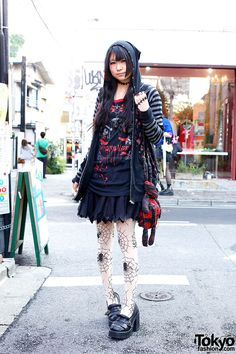 Ruru, 18 years old, college student (this goth/punk mash-up is probably her best look)