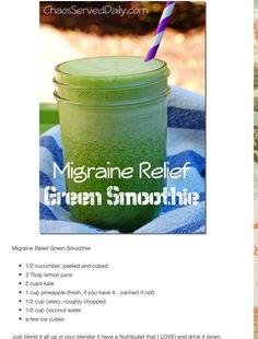 Migraine Relief Green Smoothie