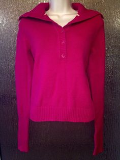 Liz Claiborne Pink Longsleeve Mockneck Sweater size Medium #LizClaiborne #TurtleneckMock