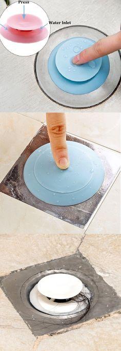 Silicone Drain Stopper Hair Catcher 2 in 1 Deodorant Sink Bathtub Flume Floor Drain Protector