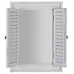 Ivory Shutter Mirror