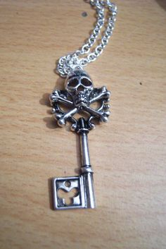 Key and bones necklace