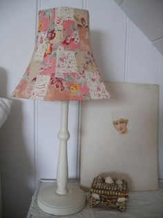 patchwork fabric lampshade