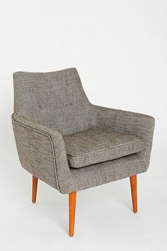 Modern Chair - comes in charcoal (I would spray the legs)
