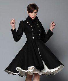 Double Breasted dark color Olga Coat