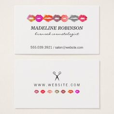 #makeupartist #businesscards - #Kiss and Scissors Business Card