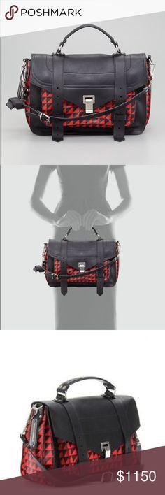 Proenza Schouler PS1 bag red triangle print Very Good condition PS1 bag red triangle print.  Do not have cloth bag. Proenza Schouler Bags