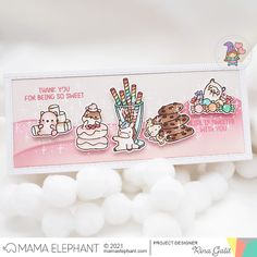 mama elephant | design blog: INTRODUCING: Sweet Treats & Slim Highlands Mama Elephant, Elephant Design, Card Maker, Sweet Life, Toy Chest, Cardmaking, Cocoa, Sweet Treats, Creative