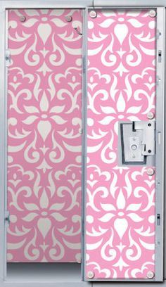 pink damask locker wallpaper by lockerlookz fits most