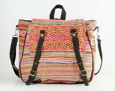 Tribal Messenger Diaper Bag Backpack Ethnic Shoulder by TaTonYon, $40.00