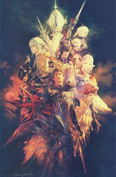 Final Fantasy XIV: Heavensward promo image by Akihiko Yoshida