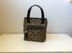 Brighton Leopard And Leather Satchel Shoulder Bag $133