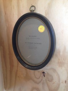 Vintage Black & Gold Oval Shabby Chic Picture Frame by vintapod, $12.00
